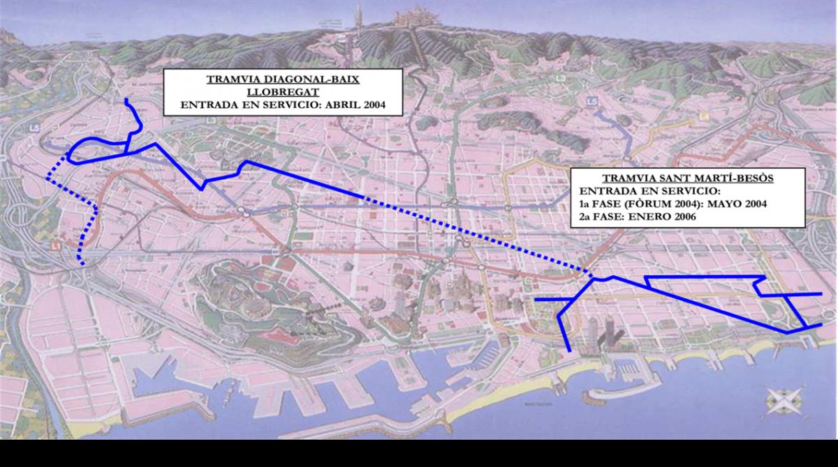 Moventia el nuevo tranv a de barcelona for Constructoras sabadell